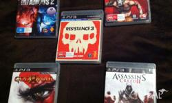 Resistance 3, God of war 3, Infamous 2, Assassins creed