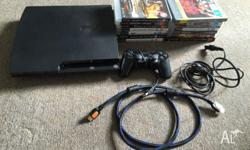 Used PS3 slim console for sale with some AAA game