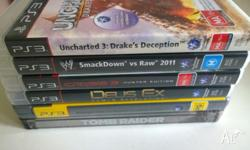 PS3 GAMES X6.. ALL EXCELLENT CONDITION PICK UP