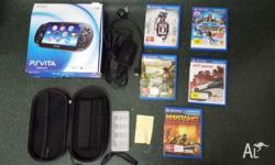 Ps vita wi-fi, in good condition Comes with 5 games -