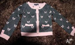 Pumpkin Patch pink and grey GIRLS cardigan (small size