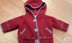 Pumpkin Patch red jacket with hood. No marks or stains,