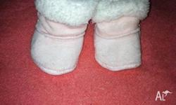 I am selling a pair of girls size small booties from