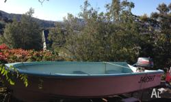12' Purdon fibreglass Dinghy in good condition with