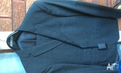 Mens pure wool dark grey suit from sydney designer