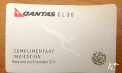 Qantas Club Lounge Pass valid for ONE person till 31