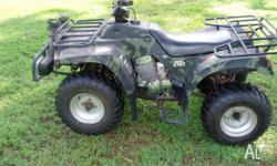 ATOMIC 2 WHEEL DRIVE 250cc TWIN CYLINDER QUAD BIKE WITH