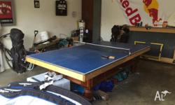 Good quality table tennis top only. Very solid timber