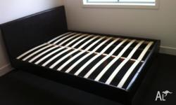 BRAND NEW NEVER USED QUEEN BED CHOCOLATE BROWN Bed