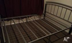 Metal queen bed frame. Moving interstate and no longer