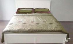 queen bed frame + mattressCAN DELIVERY Includes slatted
