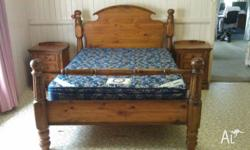 Willow creek cottage Queen size timber frame bed with