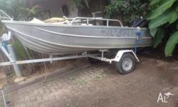 Dinghy with trailer for sale, both unregistered. Fitted