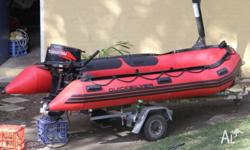 Quicksilver 380 HD inflatable (3.8m) with a 2006 30 HP