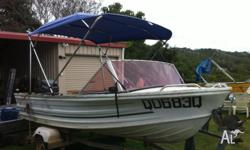 Quintrex Fishabout MK2 14 foot tinny in good condition