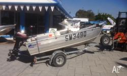 Quintrex 350 FishNipper 1994 model with a Mercury 15hp