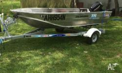 Quintrex 370 Explorer, boat, motor trailer package.