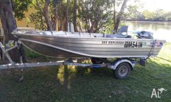 385 EXPLORER. wide body. 25 hp YAMAHA only 10