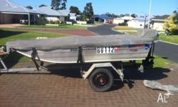 Up for grabs is my 3.5m Tinny, 2005 hull and a 2006