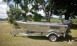 Quintrex 420 Dory W.B. Yamaha 40hp motor and trailer.