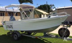 '97 model Quintrex 435 Broadwater with 50hp Honda. All