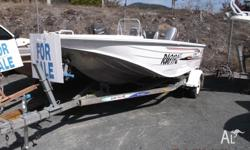 This boat is a QUINTREX 435 HORNET includes: extruded