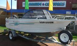 QUINTREX 475 COAST RUNNER, 2001, RUNABOUT, FISHING BOAT