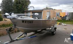 QUINTREX 420 DORY FOR SALE always kept under cover 30hp