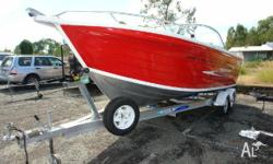 QUINTREX 590 FREEDOM CRUISER MY08, 2009, red, BOWRIDER,