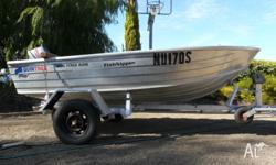 FOR SALE: This Quintrex Aluminium boat with trailer and