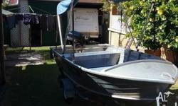 Quintrex dart 3.75, Near new Brooker trailer, 15 hp