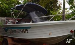 Aluminium Quintrex 4.55 metre with a 40 hp four stroke
