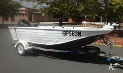 For Sale Quintrex Hornet 4.3m 2008 40hp Evinrude 55
