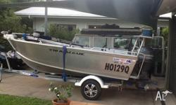 Suit new buyer Quintrex 4.4 metre Renegade. 60 hp