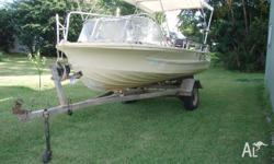 Selling Quintrex Runabout with 50 hp two stroke oil