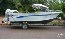 Quintrex 5 metre SeaBreeze for sale. This boat has only