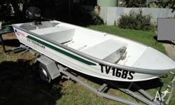 2006 model Quintrex 10ft been in water 15 times motor
