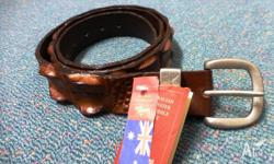 New R.M.Williams Australian saltwater crocodile belt -
