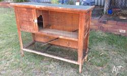 We have 3 Rabbit/ guinea pig cages for sale from $30-