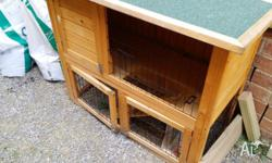 Selling my bunnies outdoor rabbit hutch as I no longer