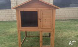 Two storey rabbit hutch. Also suitable for guinea pigs