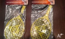 Two racquets for sale; still in packaging. Bargain at