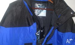 BRAND NEW WITH TAGS RAINBIRD BRAND JACKET XL BLUE AND