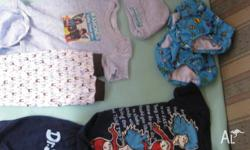 Ramones onesie and hat $10 0-3mths, swimmers 3-6mths x