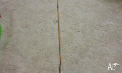 A rare vintage Jarvis Walker solid glass fishing rod