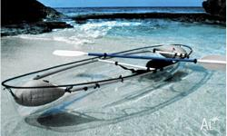 Rare and unique transparent kayak. Watch the sea life