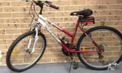 Dunlop mountain bike with Shimano 6 speed gears. Ridden