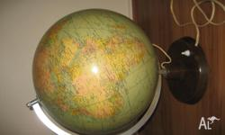 Rath Duoglobus, 45cm high world globe with a 1964 print