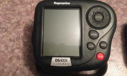 For sale is my raymarine DS400X with cover and triducer