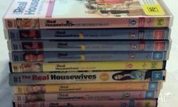 Available are 9 real housewives dvds: Real Housewvies